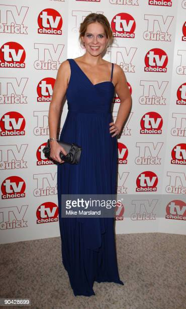 Kirsty McGabe attends the TV Quick Tv Choice Awards at The Dorchester on September 7 2009 in London England