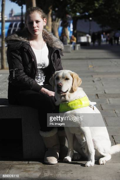 Kirsty Meinhardt 15 from Congleton with her Guide Dog Websta one of the first four people under sixteen to qualify for a Guide Dog in the UK who were...