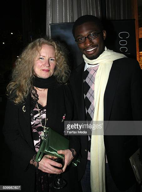 Kirsty Murray and Uzodinma Iweala at the Sydney Writers' Festival party at Walsh Bay Sydney 24 May 2006 SHD Picture by JANIE BARRETT