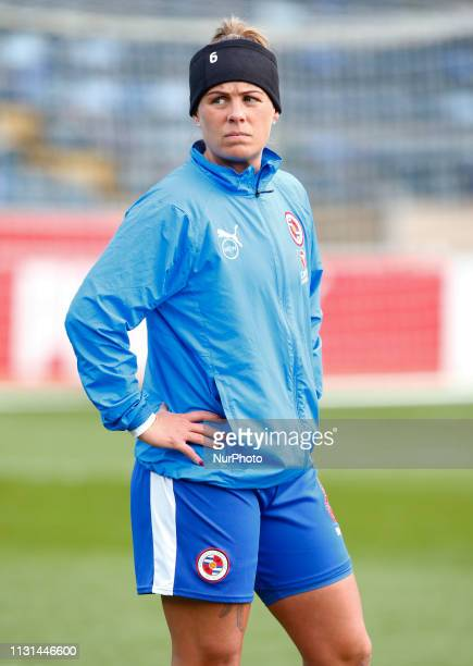 Kirsty Pearce of Reading FC Women during The SSE Womens FA Cup Quarter Final match between Reading FC Women and Manchester United Women at Adams Park...