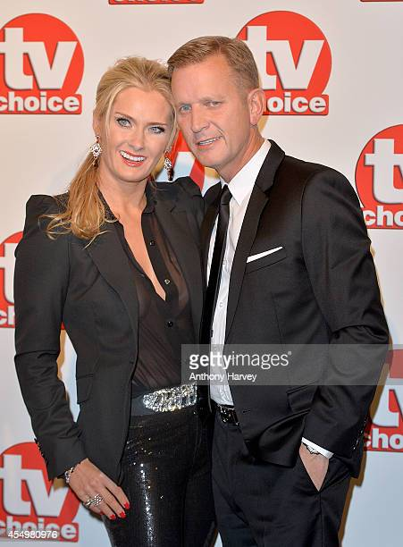 Kirsty Rowley and Jeremy Kyle attend the TV Choice Awards 2014 at London Hilton on September 8 2014 in London England