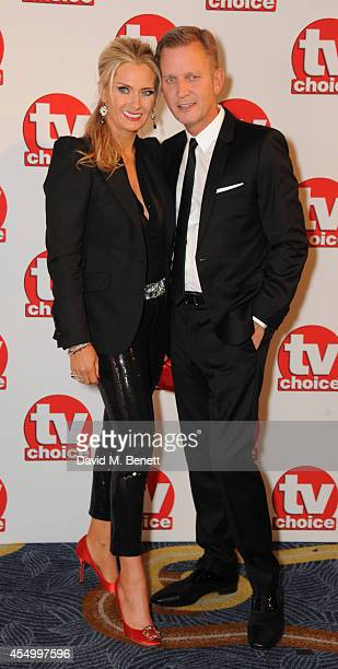 Kirsty Rowley and Jeremy Kyle attend the TV Choice Awards 2014 at the London Hilton on September 8 2014 in London England