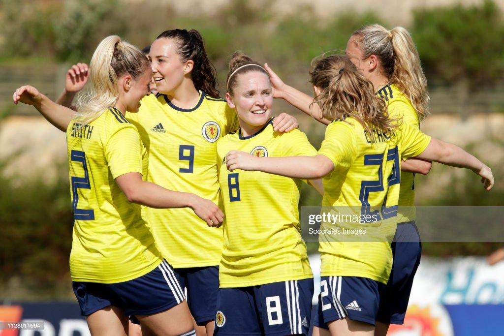 Iceland  v Scotland  -Algarve Cup Women : News Photo