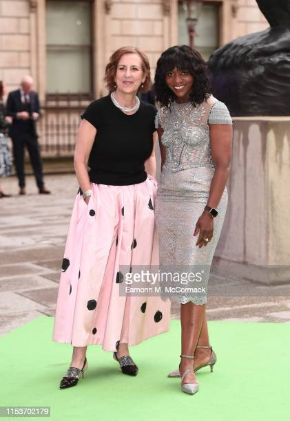 Kirsty Wark and Brenda Emmanus attend the Royal Academy of Arts Summer exhibition preview at Royal Academy of Arts on June 04, 2019 in London,...