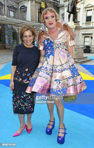 Kirsty Wark and Grayson Perry attend the Royal Academy Of Arts summer exhibition preview party 2018 on June 6, 2018 in London, England.