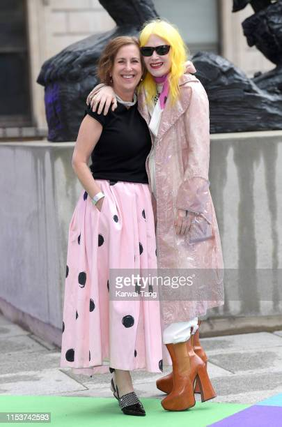 Kirsty Wark and Pam Hogg attend the Royal Academy of Arts Summer exhibition preview at Royal Academy of Arts on June 04, 2019 in London, England.