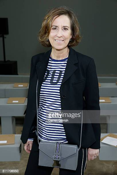 Kirsty Wark attends Christopher Kane LFW AW16 show at Tate Modern on February 22, 2016 in London, England.