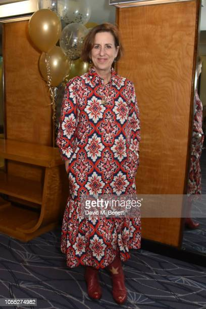 Kirsty Wark attends Damian Barr's Literary Salon 10th Anniversary at The Savoy Hotel on October 29, 2018 in London, England.