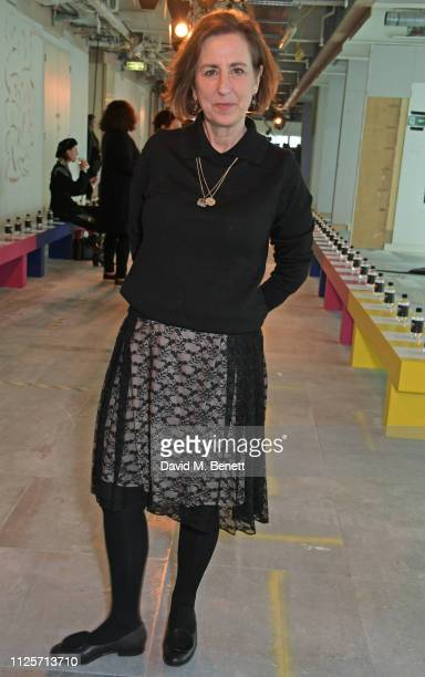 Kirsty Wark attends the Christopher Kane show during London Fashion Week February 2019 on February 18, 2019 in London, England.