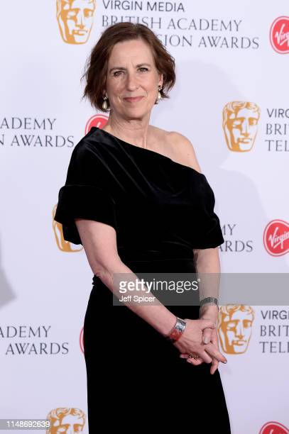 Kirsty Wark poses in the Press Room at the Virgin TV BAFTA Television Award at The Royal Festival Hall on May 12, 2019 in London, England.