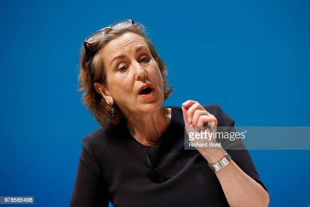 Kirsty Wark speaks onstage during the Edelman session at the Cannes Lions Festival 2018 on June 19, 2018 in Cannes, France.