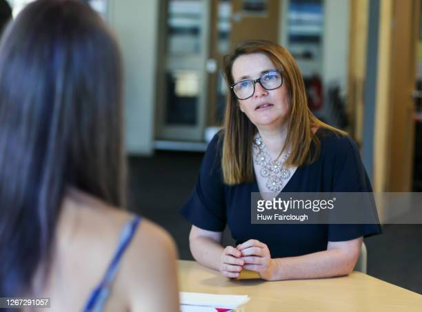 Kirsty Williams , Minister for Education in Wales speaks to Amelia Brenan, who studied BTec in performing arts and is enrolling in Sixth form at...