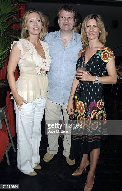 Kirsty Young Rob Stringer and Julia Carling attend the opening party of High Road House at the new club July 25 2006 in London England