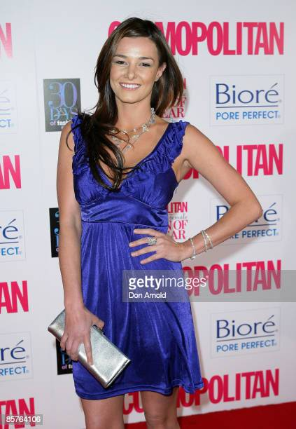 KirstyLee Allan arrives for the Cosmopolitan and Biore Fun Fearless Female Awards at Sydney Cafe on September 16 2008 in Sydney Australia