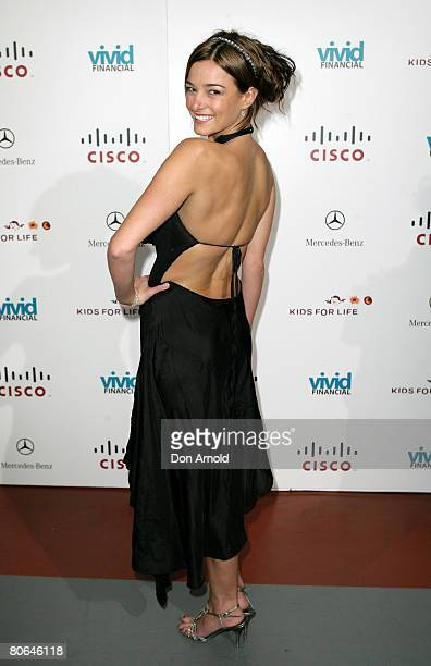 KirstyLee Allan attends the 2008 Kids for Life Charity Ball at the Hordern Pavillion on April 12 2008 in Sydney Australia