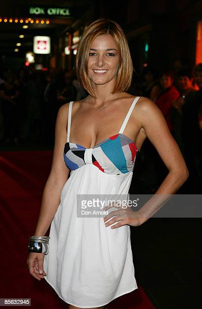 KirstyLee Allan attends the Sydney opening night of the new stage production of Guys And Dolls at the Capitol Theatre on March 12 2009 in Sydney...