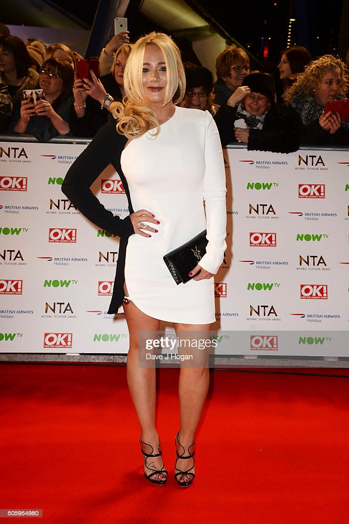 Kirsty-Leigh Porter attends the 21st National Television Awards at The O2 Arena on January 20, 2016 in London, England.