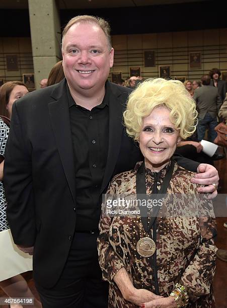 Kirt Webster Webster PR and Country Rock Roll Hall of Fame member Brenda Lee during the CMA Announcement that JIM ED BROWN and THE BROWNS GRADY...