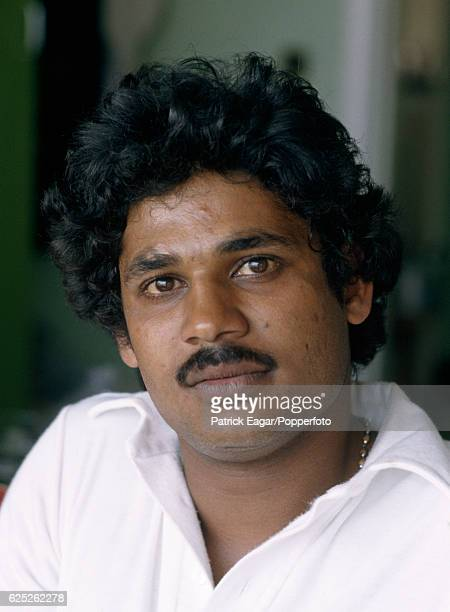 Kirti Azad of India during the Prudential World Cup Semi Final between India and England at Old Trafford Manchester 22nd June 1983