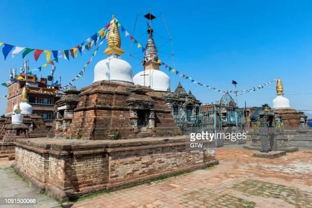 kirtipur ashoka stupa or chilancho vihar, buddhist shrine, kirtipur, nepal - {{asset.href}} stock-fotos und bilder