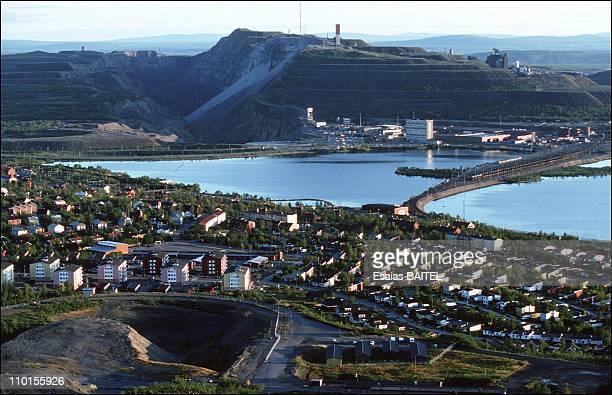 Kirunavaara iron ore mine Ikab in Kiruna Sweden in September 1994