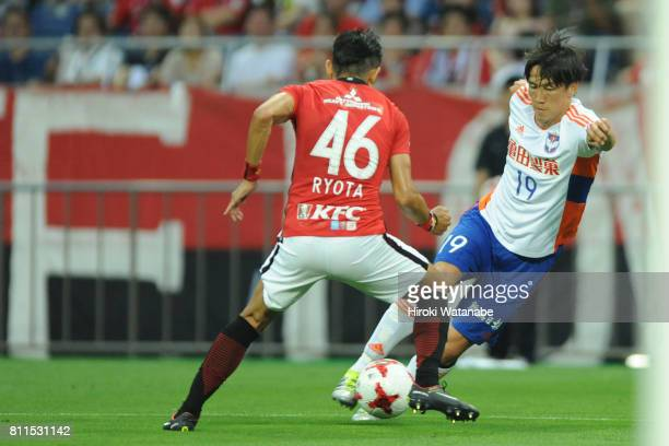 Kisho Yano of Albirex Niigata in action during the JLeague J1 match between Urawa Red Diamonds and Albirex Niigata at Saitama Stadium on July 9 2017...