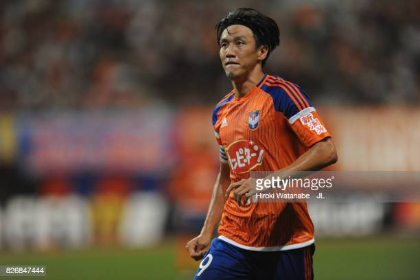 Kisho Yano of Albirex Niigata in action during the JLeague J1 match between Albirex Niigata and Yokohama FMarinos at Denka Big Swan Stadium on August...