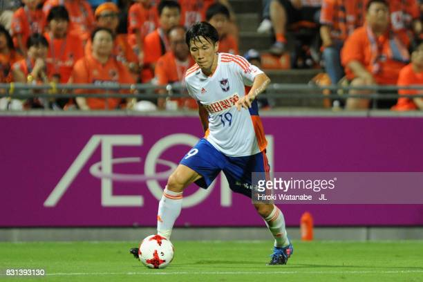 Kisho Yano of Albirex Niigata in action during the JLeague J1 match between Omiya Ardija and Albirex Niigata at NACK 5 Stadium Omiya on August 13...