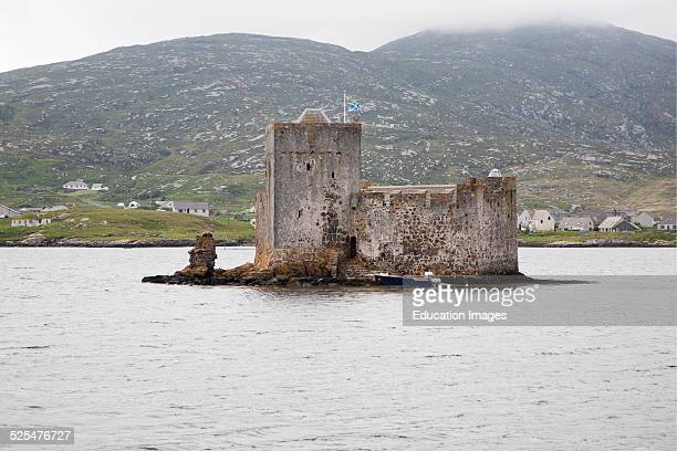 Kisimul castle dating from the sixteenth century and home of the MacNeil clan Castlebay Barra Scotland