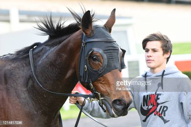 Kiss And Cry after winning the Ladbrokes Same Race Multi Handicap at Ladbrokes Park Lakeside Racecourse on May 24 2020 in Springvale Australia