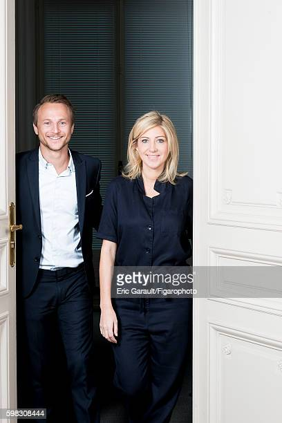 Kiss and Fly fortune cookie creators Marc Beaucourt and Amanda Sthers are photographed for Madame Figaro on July 4 2016 in Paris France CREDIT MUST...