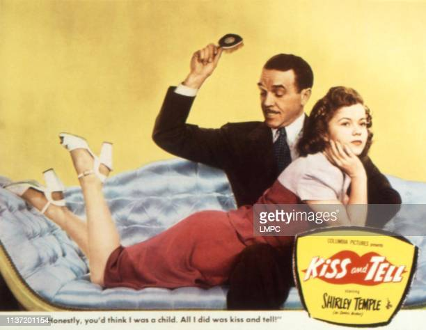 Kiss And Tell lobbycard Walter Abel Shirley Temple 1945