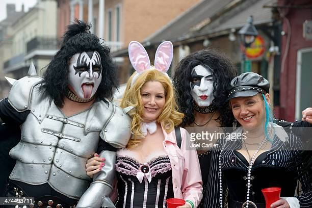 kiss at mardi gras - classic rock stock pictures, royalty-free photos & images