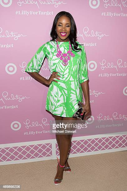 Kiss attends the Lilly Pulitzer for Target Launch at Bryant Park Grill on April 15 2015 in New York City