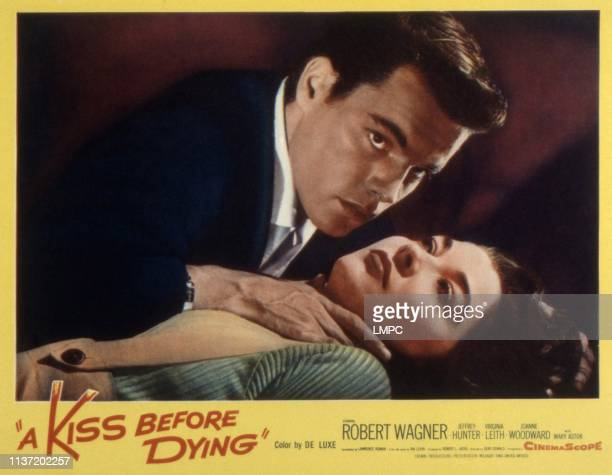 A Kiss Before Dying lobbycard Robert Wagner Virginia Leith 1956