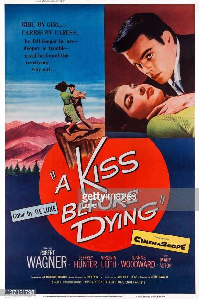 A Kiss Before Dying poster US poster art from left Virginia Leith Robert Wagner 1956