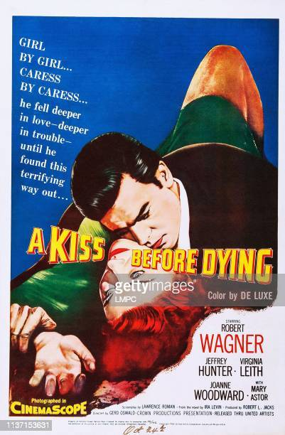 A Kiss Before Dying poster US poster art Virginia Leith Robert Wagner 1956
