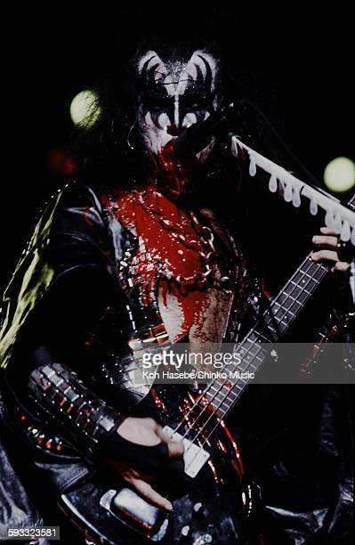 Kiss bloody Gene Simmons on stage at Nippon Budokan Tokyo March 28 1978