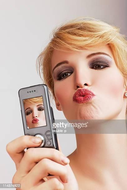 Beso por teléfono