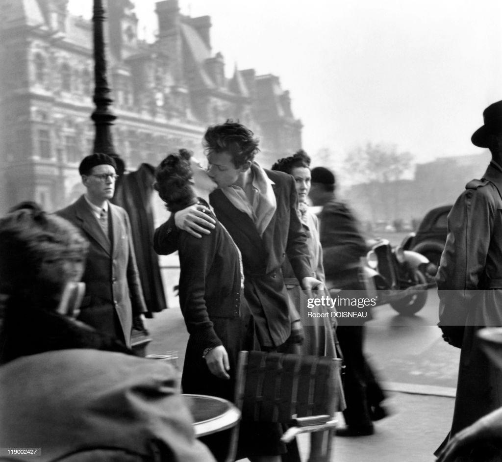 Kiss By The Hotel De Ville, (Le Baiser de l'Hotel de Ville) Place De L'Hotel De Ville, Paris 4th District