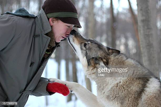 Kiss from a wolf