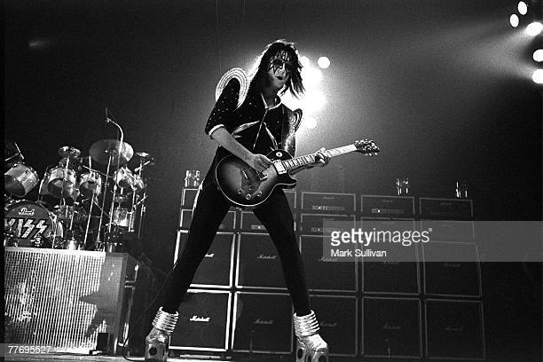 Kiss guitarist Ace Frehley performs at the Great Western Forum in Inglewood, CA, 1976; Various Locations; Mark Sullivan 70's Rock Archive; Inglewood;...