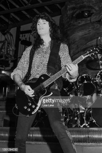 Kiss guitarist Bruce Kulick performs at the Allentown Fairgrounds on June 27 in Allentown Pennsylvania