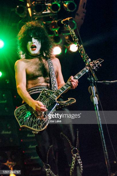 Kiss guitarist Paul Stanley performs at the CoreStates Center on October 8 in Philadelphia Pennsylvania