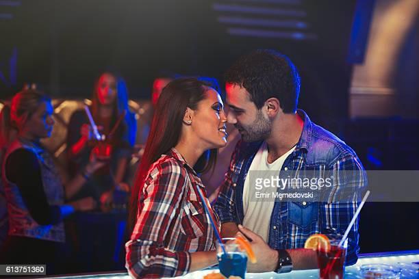 Kiss in the nightclub