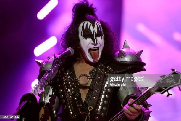 Kiss Live 2017Tour Paul Stanley Gene Simmons Tommy Thayer und Eric Singer am 12 Mai 2017 in der Westfalenhalle Dortmund