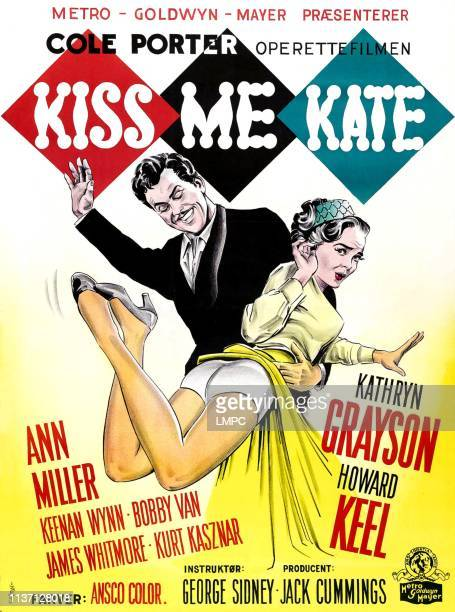 Kiss Me Kate poster Howard Keel Kathryn Grayson 1953