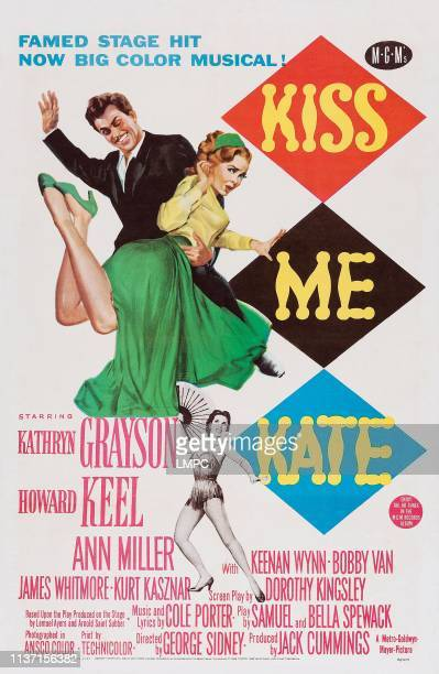 Kiss Me Kate poster Howard Keel Kathryn Grayson Ann Miller 1953
