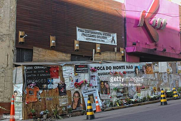 Kiss nightclub where a blaze killed 242 people, on January 27, 2013 in Santa Maria, Rio Grande do Sul, Brazil.