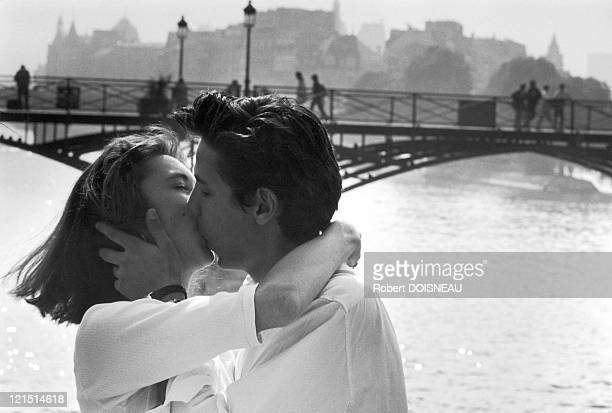 Kiss On Pont Des Arts Paris 1950